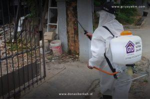 Bantuan Penyemprotan Disinfektan di Wilayah Kemiling – Bandar Lampung