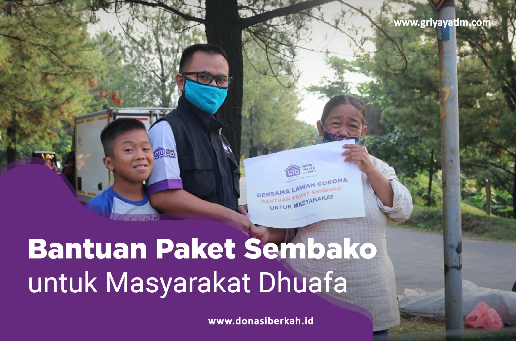 Bantuan Paket Sembako untuk masyarakat dhuafa