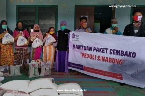 Penyaluran Bantuan Korban Gunung Sinabung