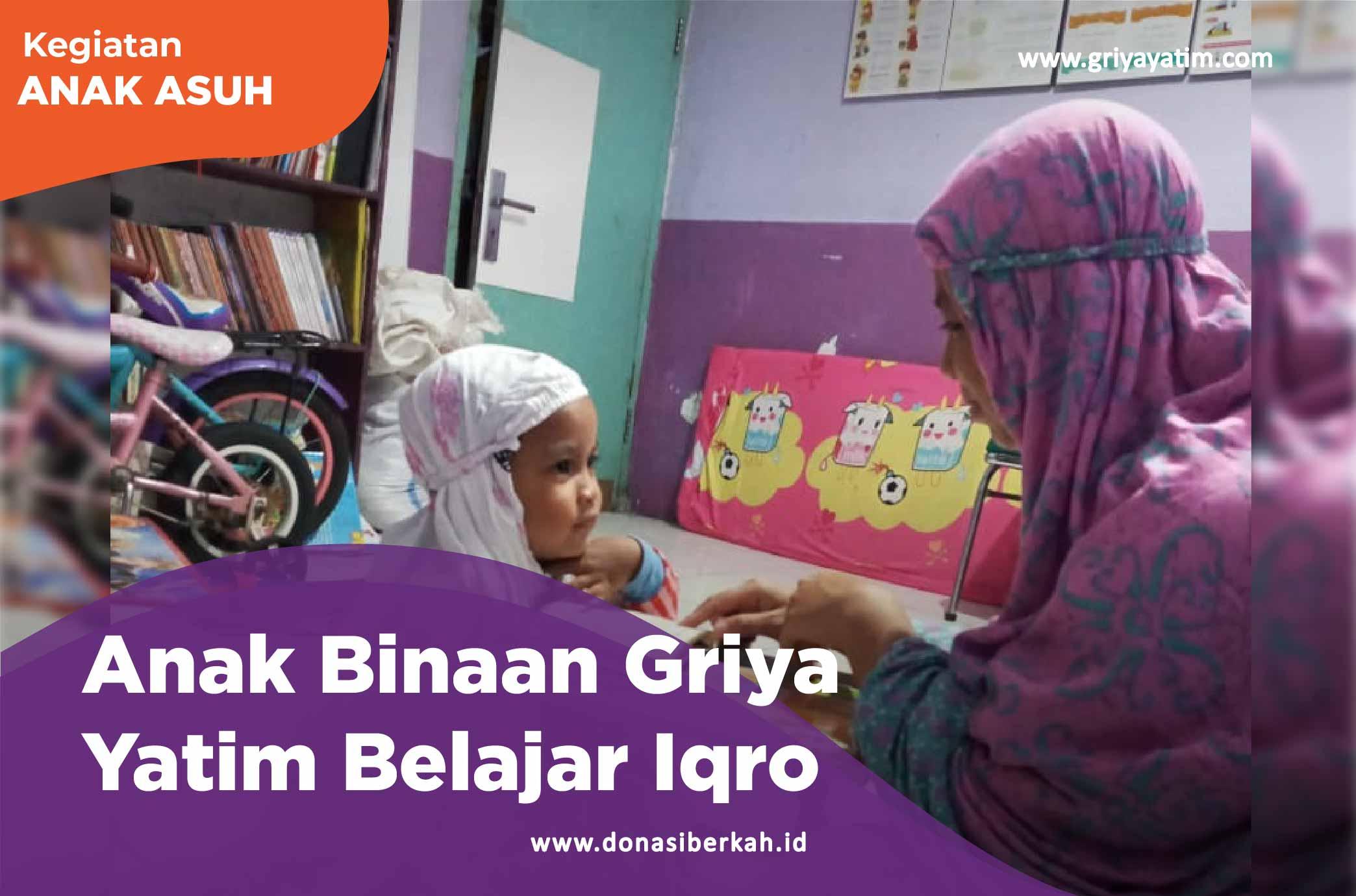 Anak Binaan Griya Yatim Belajar Iqro