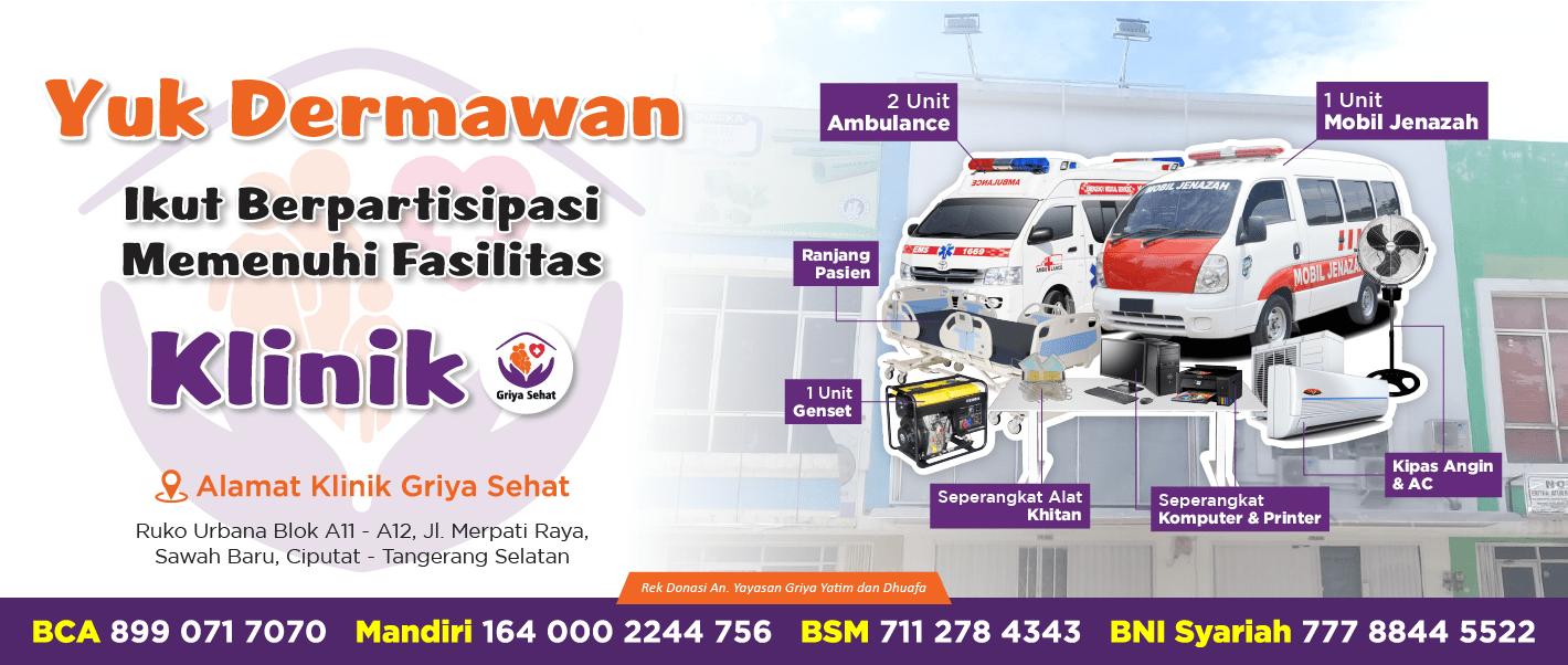 Bantu Klinik Griya Yatim