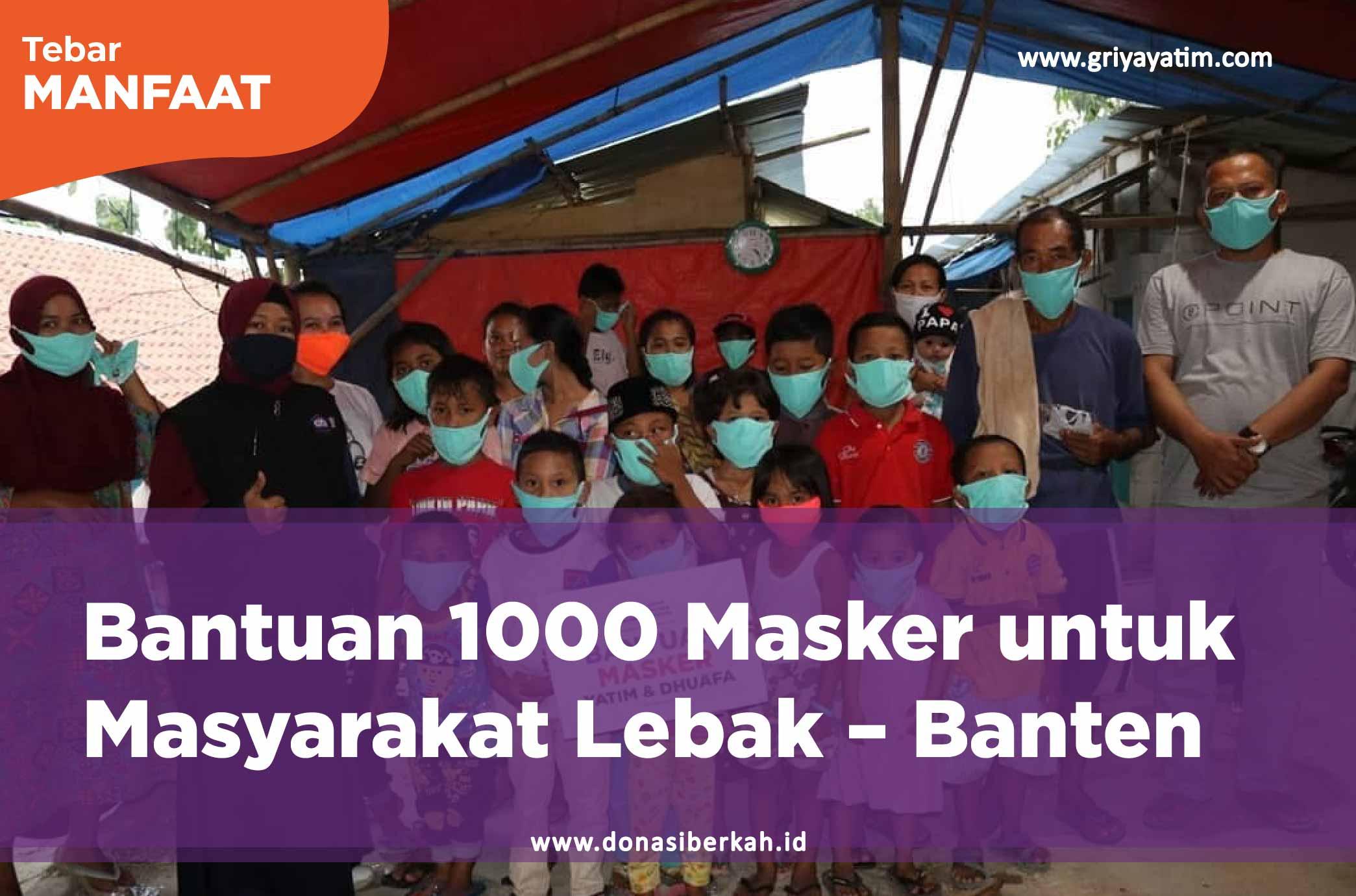 Bantuan 1000 Masker untuk Masyarakat pelosok