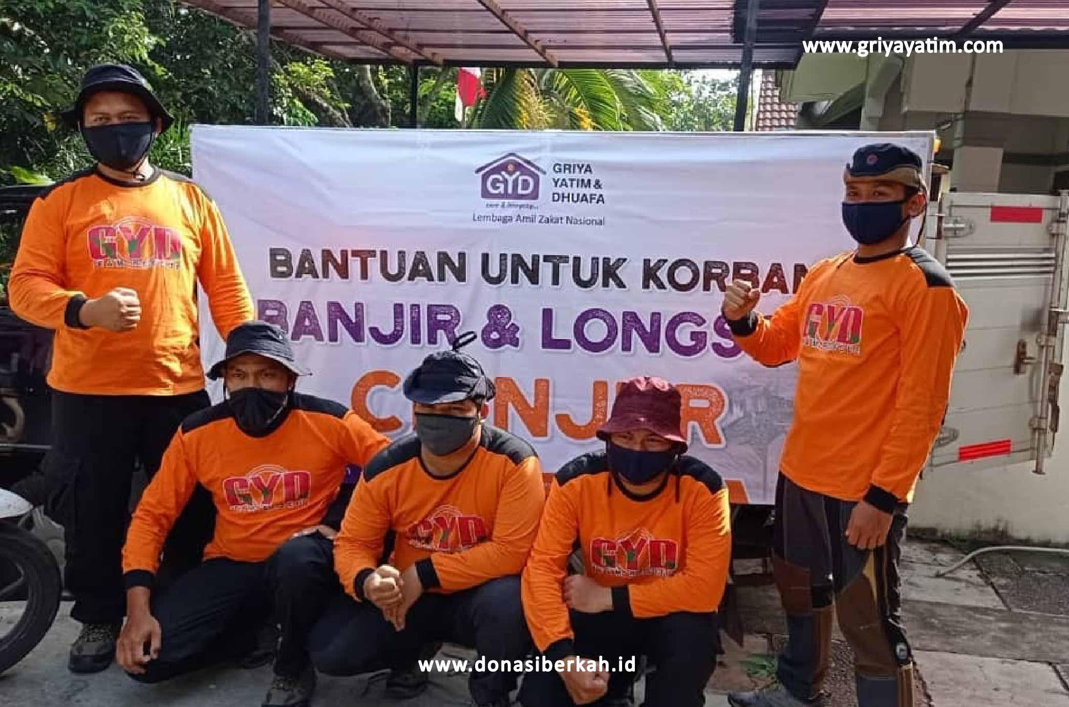 Bantuan Untuk Korban Banjir dan Longsir Cianjur