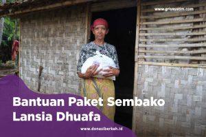 bantuan paket sembako lansia dhuafa