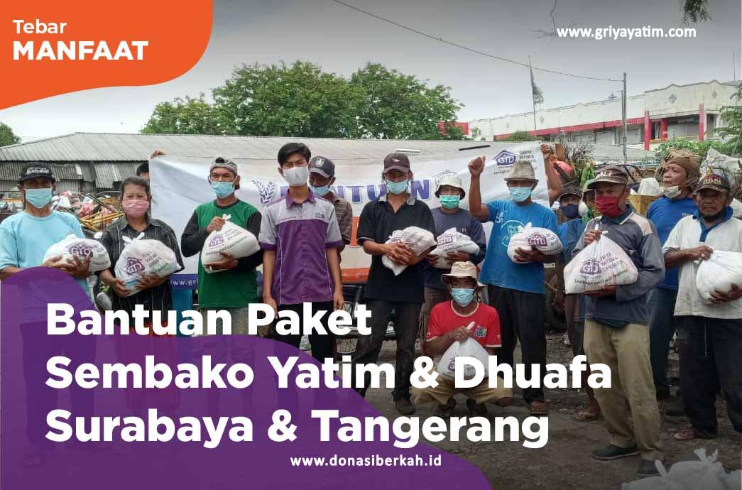 Bantuan Paket Sembako Yatim & Dhuafa Surabaya & Tangerang
