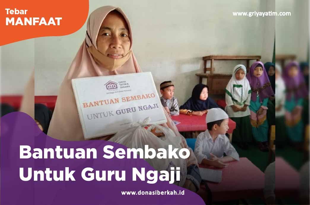 Bantuan Sembako Untuk Guru Ngaji