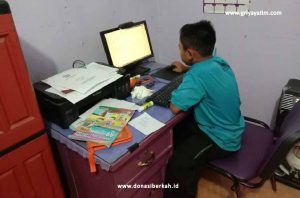 Semangat Melakukan Try Out Online Anak Asuh Solo