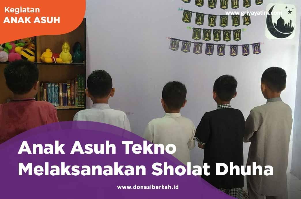 Anak Asuh Tekno Melaksanakan Shalat Dhuha
