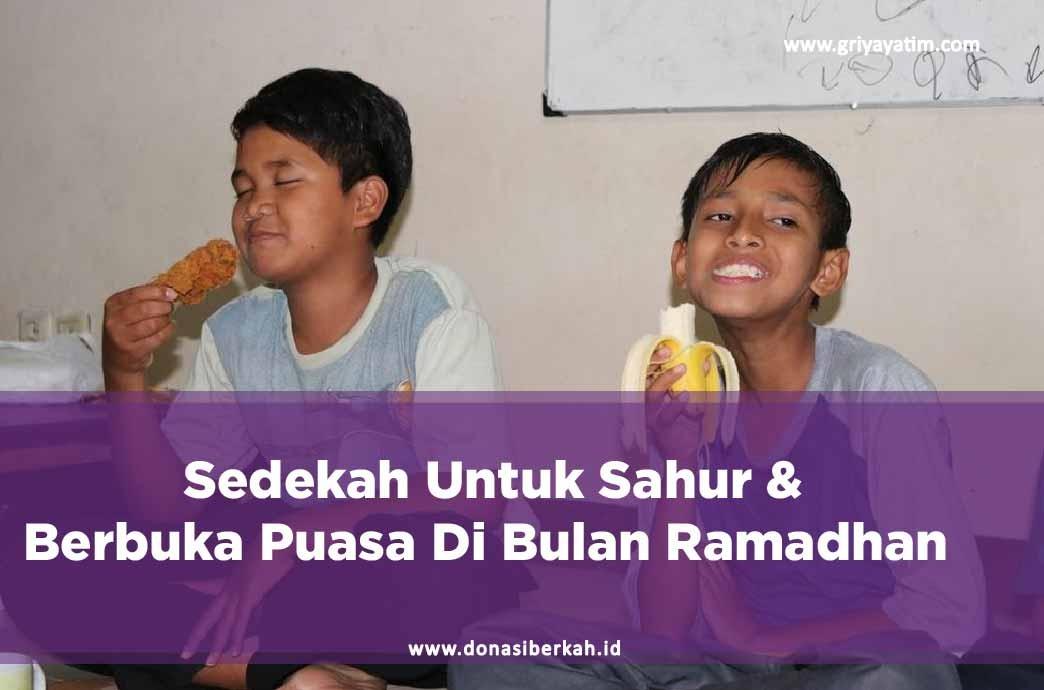 Sedekah Untuk Sahur & Berbuka Puasa Di Bulan Ramadhan