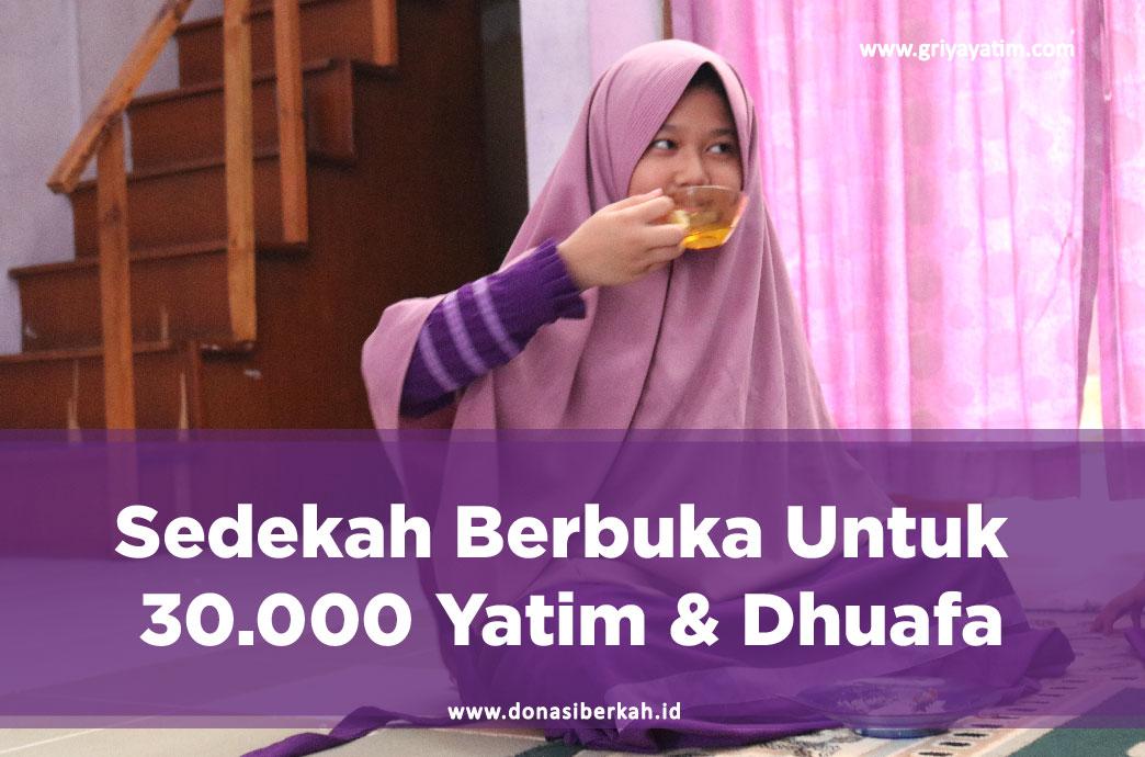 Sedekah Berbuka Untuk 30.000 Yatim & Dhuafa